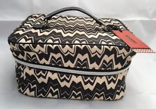 MISSONI for Target Chevron COSMETIC TRAIN CASE Make-up BAG ORGANIZER