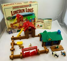 Diary Time Farm Lincoln Logs Rare Complete in Great Condition FREE SHIPPING