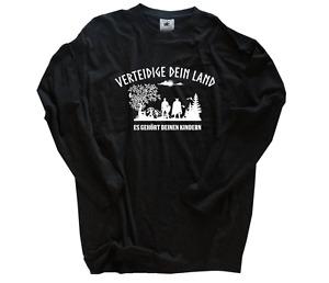 Verteidige dein Land-Es gehört deinen Kindern Wikinger Germanen T-Shirt S-3XL