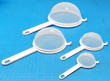 STRAINERS SIEVE PLASTIC STRAINER SET OF 4 POLYESTER COOKING BPA FREE SWISS Made