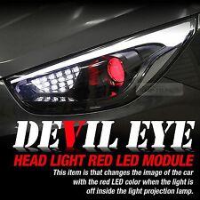 Devil Eye Headlight Projection Lens Red LED Module Kit For HYUNDAI 11-14 Sonata