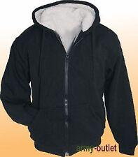 Winter Sweatjacke Arctic Sweater Sherpa Jacke mit Kapuze und Futter Hoodie XL
