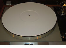 NEW WHITE Acrylic Perspex Turntable Mat Rega Linn Avid Pro-Ject VPI Music Hall