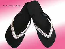 HAVAIANAS FLIP FLOPS OR CARIRIS WEDGE WITH SWAROVSKI CRYSTALS STUNNING SZ 5-12