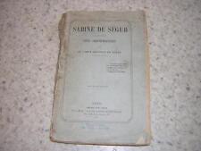 1873.Sabine de Ségur / le comte Anatole de Ségur