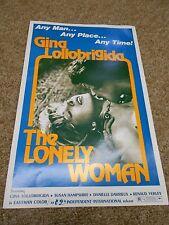 THE LONELY WOMAN LOT OF 10 (1973) GINA LOLLOBRIGIDA ORIGINAL PRESSBOOK+