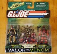 GI JOE  Valor Vs Venom 2 Pack! SAND SCORPION/RAZOR TROOPER Troop Builders! NIP!