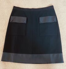 Gerard Darel - Women's Skirt - Black/Leather - Size 44/ UK:16