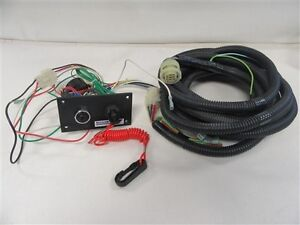 NISSAN MARINE IGNITION & KILL SWITCH PANEL WITH BUZZER & 21' FT HARNESS BOAT