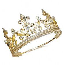 TQF55 Men's Imperial Medieval Fleur De Lis King Crown 85 mm High Sizable Dia