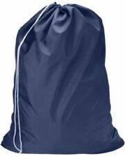 1 NEW HEAVY DUTY NAVY BLUE COMMERCIAL CANVAS COLLEGE GYM LAUNDRY BAG 30''X40''