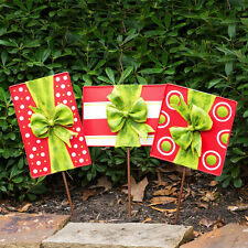 Outdoor Christmas Present Decorations (Set of 3)