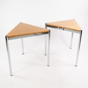 USM Haller Beech Wood Triangular Table Modular 750x740 Knoll Office Sets Avail