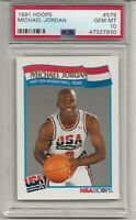 1991 HOOPS #579  MICHAEL JORDAN, PSA 10 GEM MINT, HOF, CHICAGO BULLS, L@@K