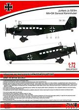 Owl Decals 1/72 JUNKERS Ju-52/3m GENERAL KAMMHUBER Decals & Conversion Kit