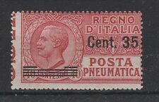 FRANCOBOLLI 1927 REGNO POSTA PNEUMATICA C. 35 SU 40 MNH Z/684