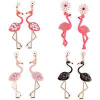 Flamingo Pendant Earrings Drop Dangle Ear Stud Earrings Jewelry Women Pip ^ODLK