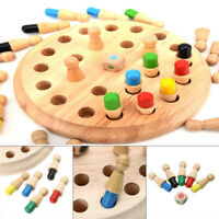 Kids Wooden Memory Chess Match Stick Educational Color Game Educational Toy Gift