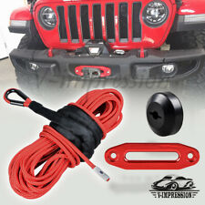7000lbs 50 X 14 Winch Rope Synthetic Recovery Straps Hawse Fairlead Stopper