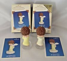 Hallmark 2005 Pair 2 Mary's Angels Forsythia 18th  REPAINT REGISTER TO WIN Lot