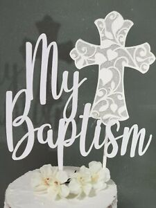 Custom Cake Topper Baptism Christening Communion Personalized ~ Made For You~