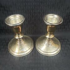 Towle Sterling Silver Candlesticks 734 Matched Pair