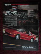 1988 Print Ad Toyota MR2 Supercharged Car Automobile ~ Give it the Gun and Run