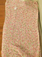 "Afghan  Crochet Blanket Handmade Throw New 46"" X 36"" Baby Blanket"