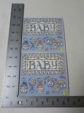 FRANCES MEYER OUR BABY BLUE BOY RATTLES BLOCKS STICKERS SCRAPBOOKING A2425