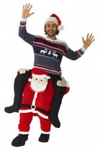 Father Christmas Ride On Santa Costume Christmas Fancy Dress Piggy Back Costume