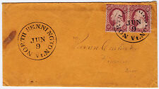 "#26A-3 Cents 1857, 22-23L11i, ""NORTH BENNINGTON JUN 9 Vt."" w/contents Hinsdale"