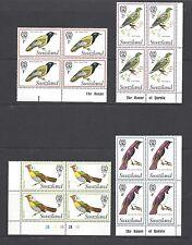 SWAZILAND 1976 SG 236/250 MNH Blocks of 4 Cat £84