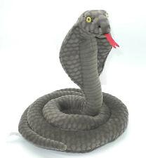 Uni-Toys Neuware Schlange Cobra Brillenschlange dunkelgrau ca. 36cm hoch