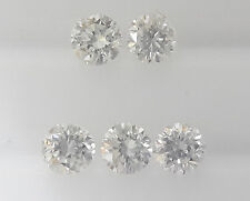 100% Real 1.8mm 0.14cts 5pc SI Clarity G Color Natural Loose Brilliant Diamond