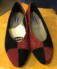 Dr. Scholl's Black/Mulberry Suede Pumps New 7 1/2