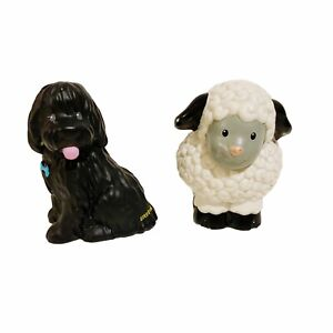 2 x Little People Fisher-Price Animal Dog Sheep Toy Lot