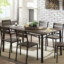 Furniture of America Erma Transitional Metal Dining Table in Antique Brown