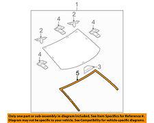 MAZDA OEM 10-13 3 Rear Window Glass-Reveal Molding BBM450611
