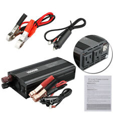 1000W Car Auto Power Inverter DC 12V To AC 110V Dual USB Adapter Charger Supply