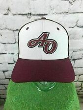 Under Armour Mens Sz 7 Hat Maroon White 2-Tone Fitted Baseball Cap