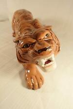 Vintage 1977 Arnel's Pottery HUGE Bengal Tiger 2' Long Crouching Stalking Signed
