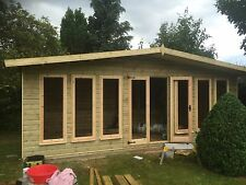 20x10 Contemporary Style Summerhouse with 2ft Porch 19mm T&G Reverse Apex