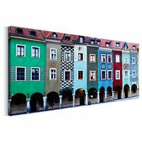 Photo Image de Toile Peintures Murales Art Design Multicolore Maisons