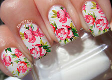 Peony Flower A1082 Nail Art Stickers Transfers Decals Set of 22