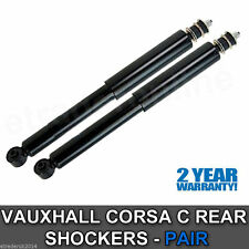 Vauxhall Corsa C Rear Shock Absorbers Shocks 2000 - 2006 Pair Shockers Dampers 2