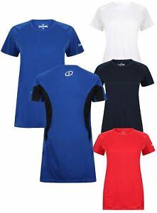 Ladies Spalding Short Sleeve Essential Moisture Wicking Training T shirt Top XS-