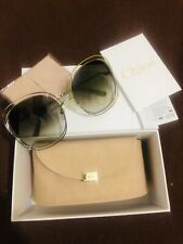 b92b5fb531e8 Chloé Carlina Ce126s Light Gold Transparent Grey Green smoke Shaded  Sunglasses