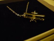 "Pitts Special  aerobatic biplane c75 On a 24"" Silver Plated Curb Chain Necklace"