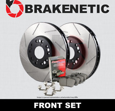 [FRONT] BRAKENETIC PREMIUM SLOTTED Brake Rotors+POSI QUIET Ceramic Pads BPK72500