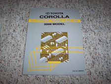 2006 Toyota Corolla Electrical Wiring Diagram Manual CE S LE XRS 1.8L 4Cyl